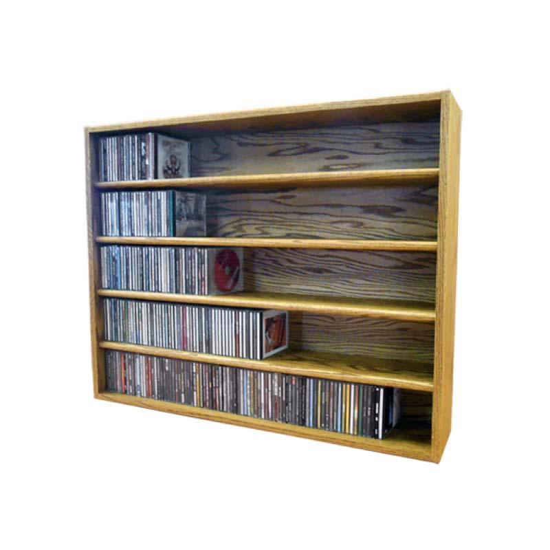Wood shed solid oak cd storage rack capacity tws