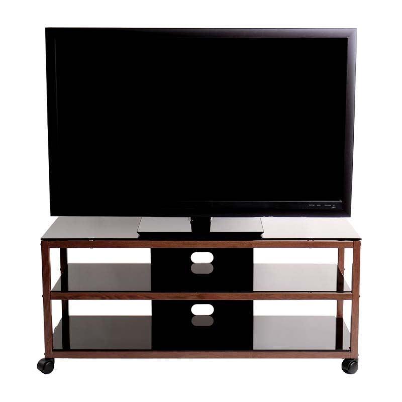 Transdeco Steel Tv Stand For 30 55 Inch Screens Oak And