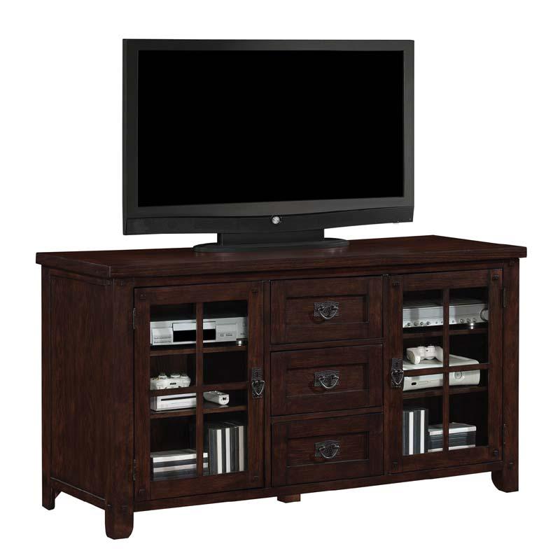 tresanti dakota collection 65 inch tv stand with windowpane doors caramel oak tc60 1066 o128. Black Bedroom Furniture Sets. Home Design Ideas