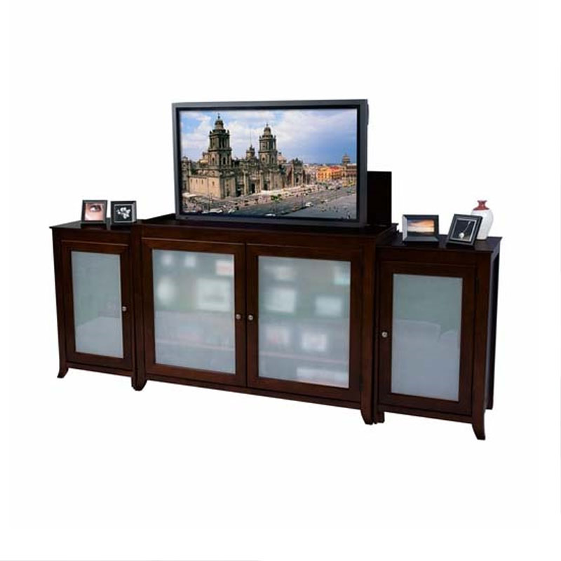 touchstone tuscany tv lift cabinet with side cabinets for. Black Bedroom Furniture Sets. Home Design Ideas