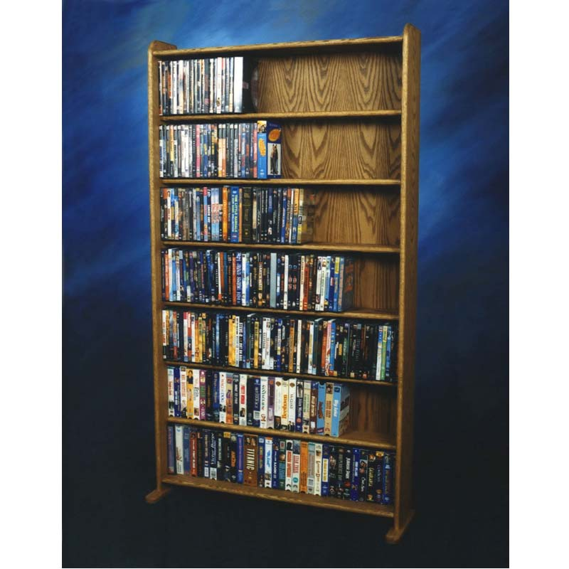 Wood Shed Dvd And Vhs Storage Rack Various Finishes 707 3