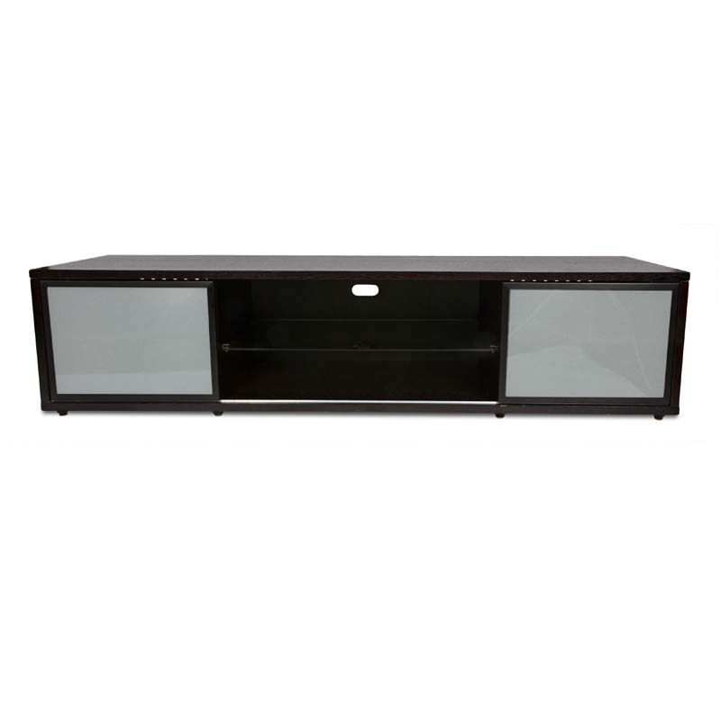 Plateau SR Series Retro Hardwood TV Stand With Glass Doors