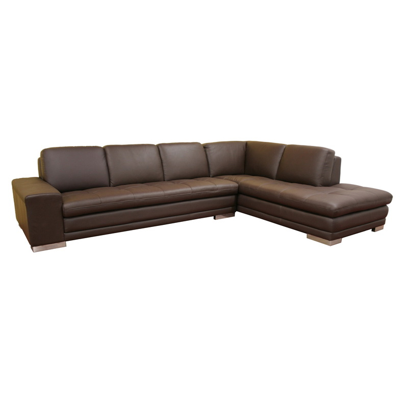 Wholesale Interiors Callidora Leather Sofa Sectional Brown