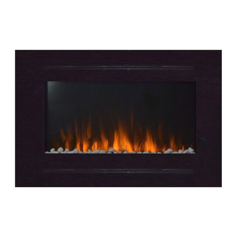Touchstone Forte 40 Inch Wall Mounted Recessed Electric Fireplace Black 80006