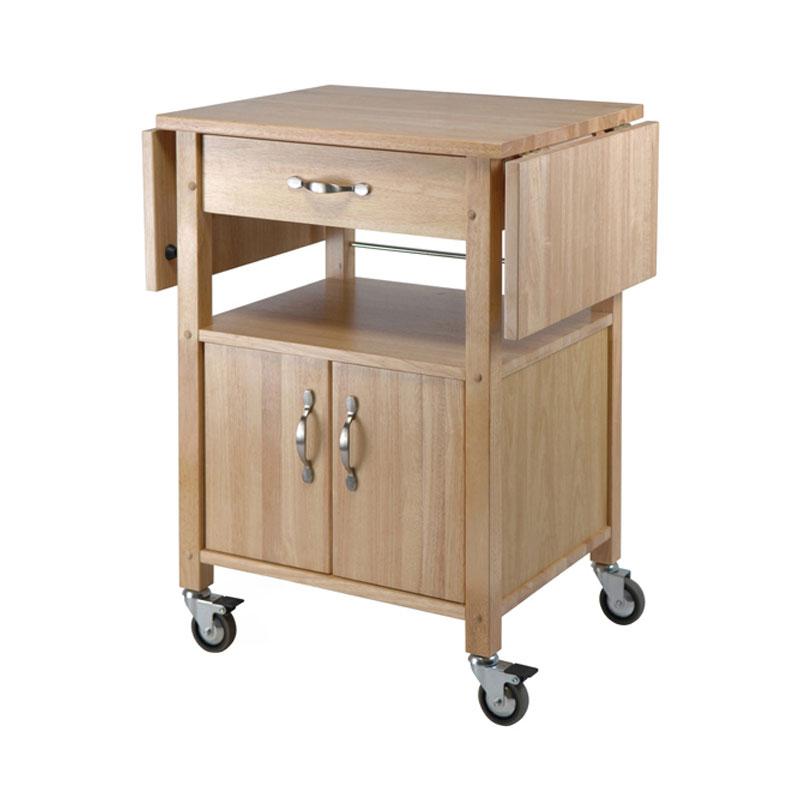 Winsome Wood Gourmet Drop-Leaf Kitchen Cart 84920