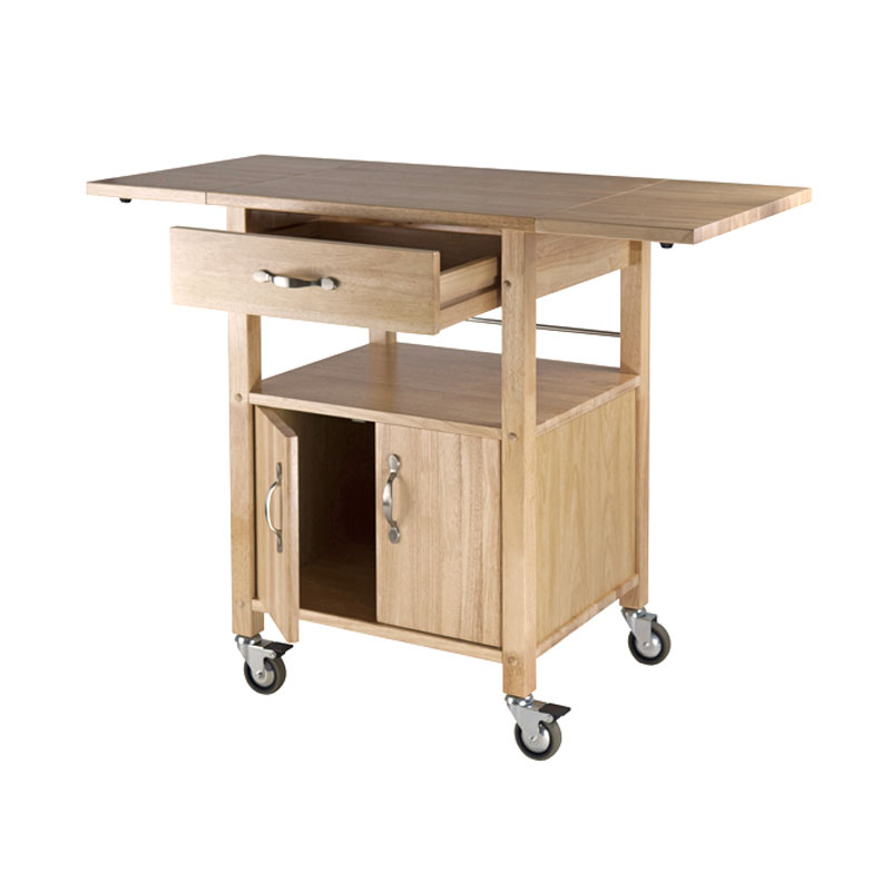 winsome wood gourmet drop leaf kitchen cart 84920