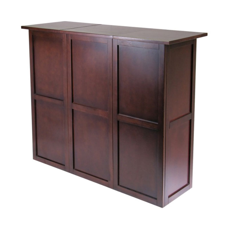 Winsome Wood Newport Entertainment Bar Counter Antique