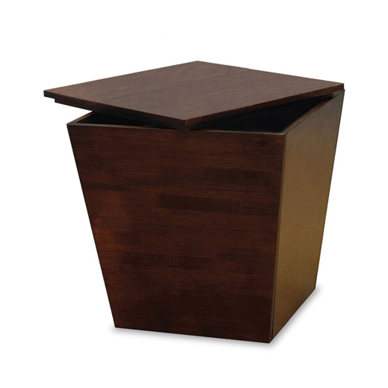 Winsome wood storage cube antique walnut 94418 Wooden cube furniture