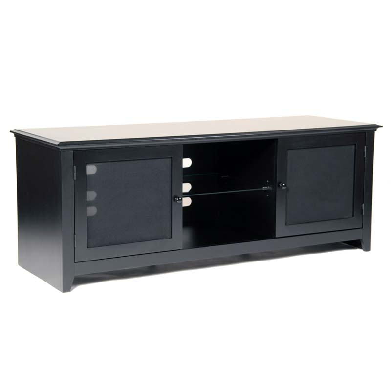 Transdeco wood and glass tv cabinet for up to 65 in flat for Best 65 inch tv mount