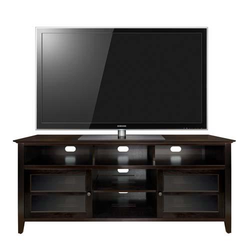 Bello No Tools Assembly 65 inch Wood TV Cabinet Dark Espresso ...
