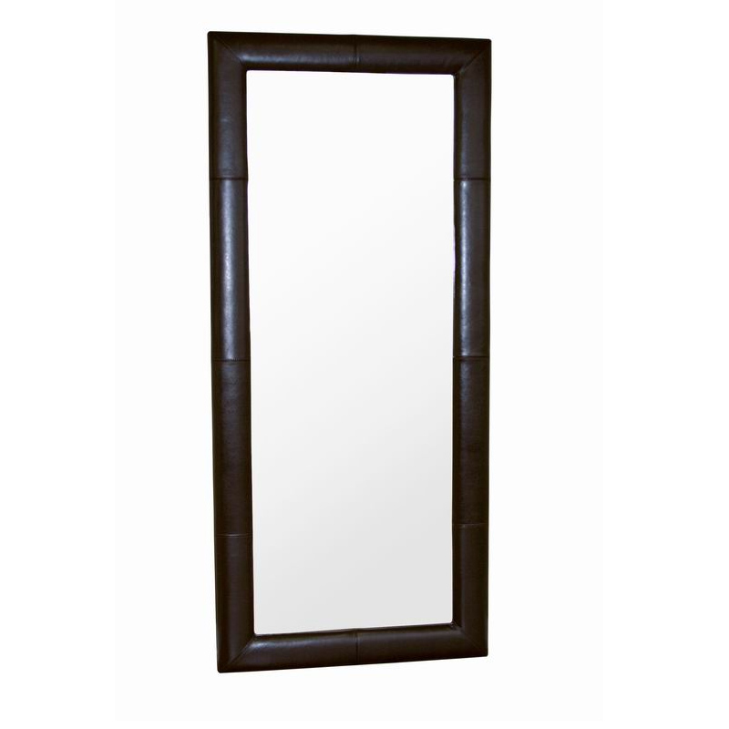 Wholesale interiors floor mirror with bycast leather frame for Wholesale mirrors