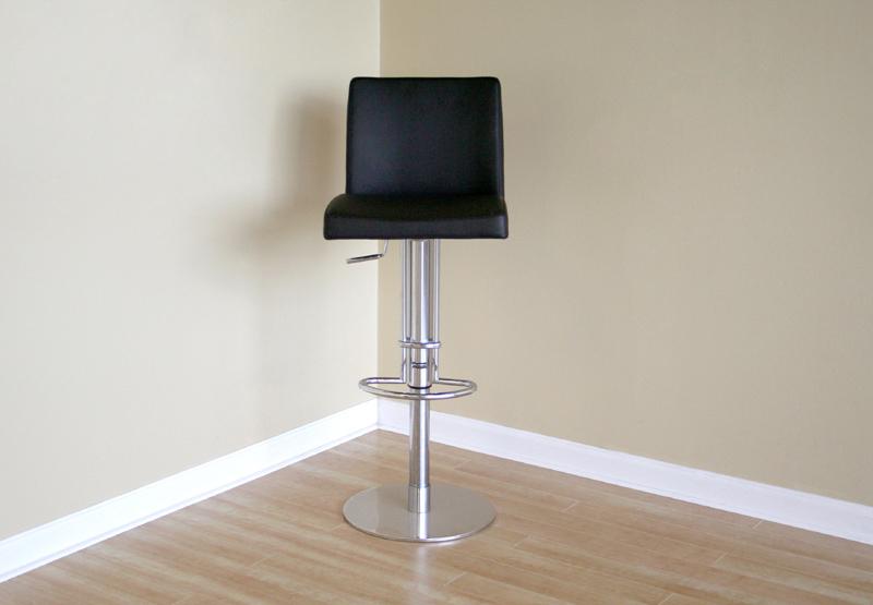 Wholesale interiors marcus leather bar stool black alc 2213b for Interior leather bar