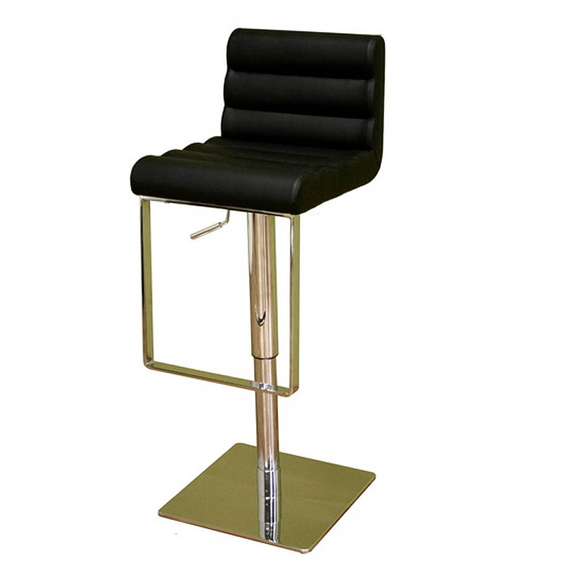 Wholesale Interiors Cognac Dark Brown Leather Bar Stool: Wholesale Interiors Sandi Adjustable Leather Bar Stool