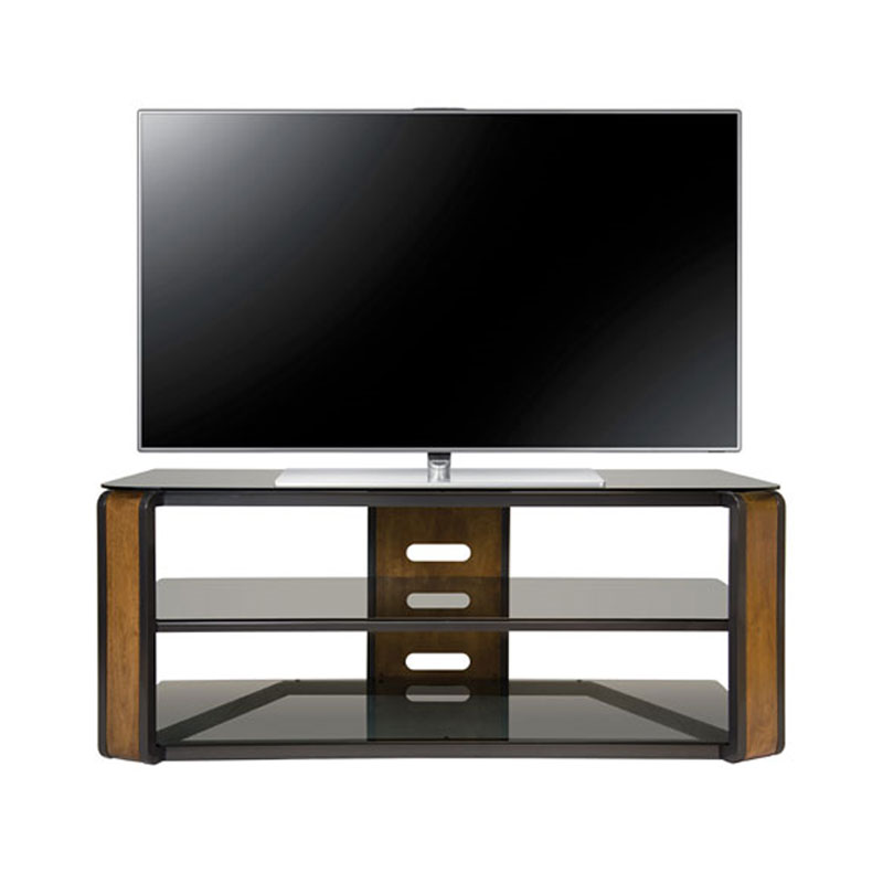 bello natural finish wood tv stand for screens up to 60 inches avsc2131. Black Bedroom Furniture Sets. Home Design Ideas