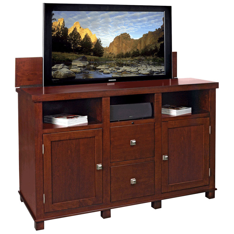 tv lift cabinet axiom lift for 40 55 inch screens rich. Black Bedroom Furniture Sets. Home Design Ideas