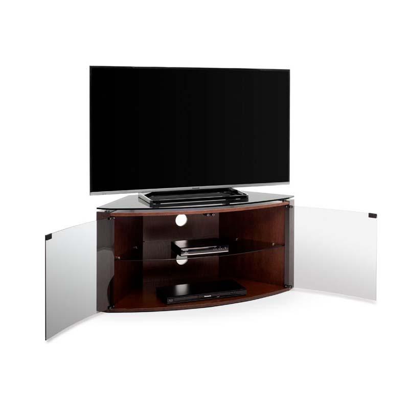 Techlink Bench Corner 55 Inch Tv Stand Dark Oak With