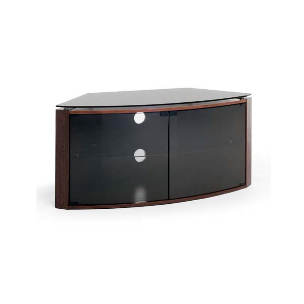 techlink bench corner 55 inch tv stand dark oak with smoked glass b6do. Black Bedroom Furniture Sets. Home Design Ideas