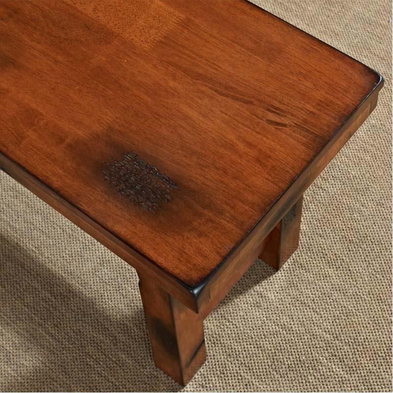 walker edison wood dining bench distressed oak dbh1do