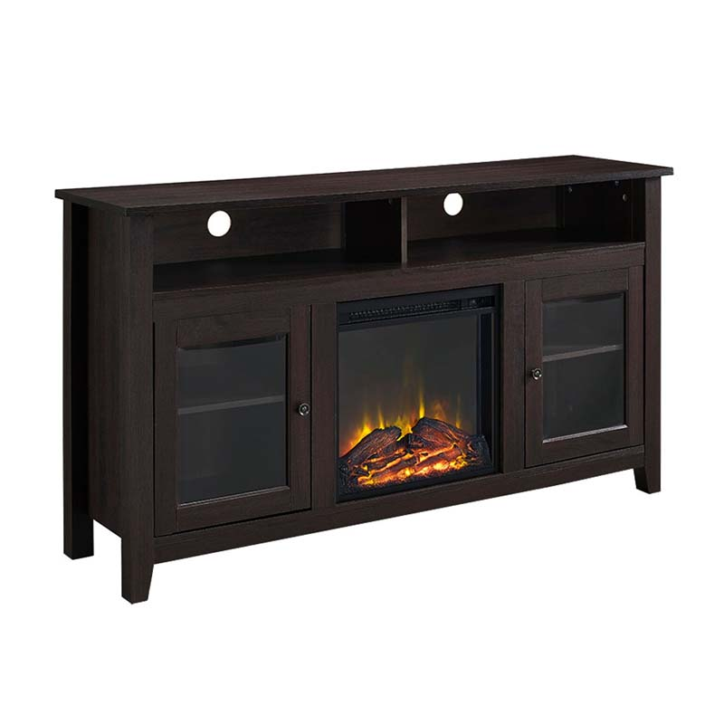Walker Edison Highboy Fireplace Tv Stand For 60 Inch Screens Espresso W58fp18hbes