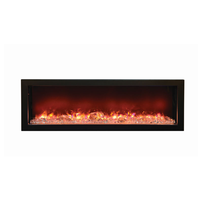 Amantii Fire Ice Built In Electric Fireplace W 49x15 In Steel Surround Bi 50 Deep