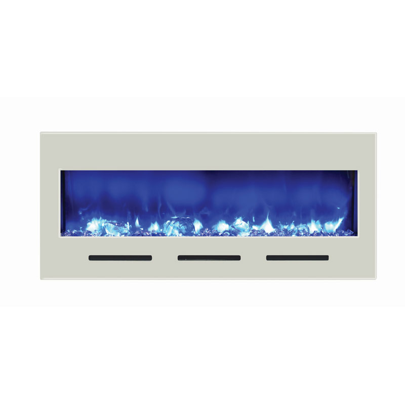 Amantii fire ice built in flush mount electric fireplace for Flush mount electric fireplace