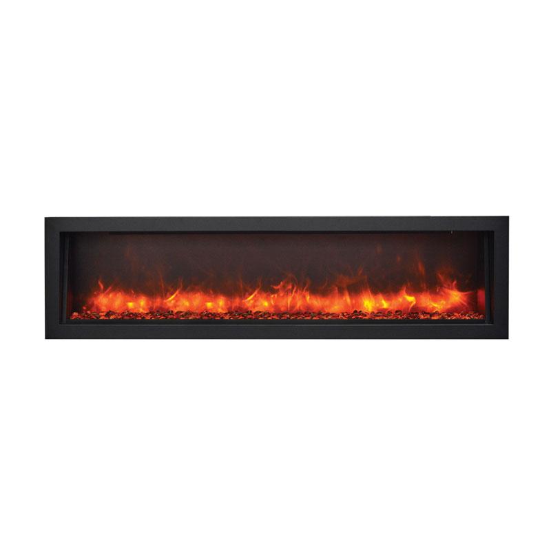 Amantii Bi 60 Slim Panorama 60 Inch Indoor Outdoor Electric Fireplace