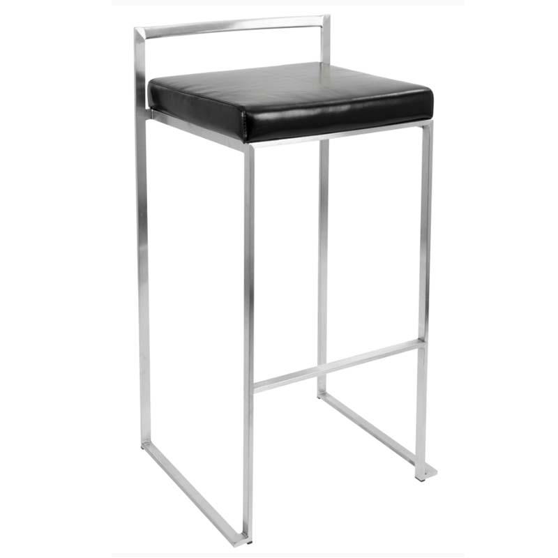 lumisource fuji stacking bar stools black pair of 2 bs