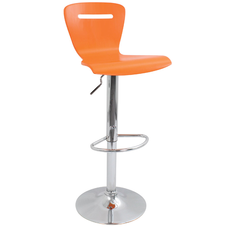 Lumisource H2 Bar Stool Orange Bs Tw H2 O