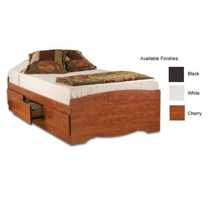 Prepac Twin Platform Storage Bed Various Finishes Bt 4100