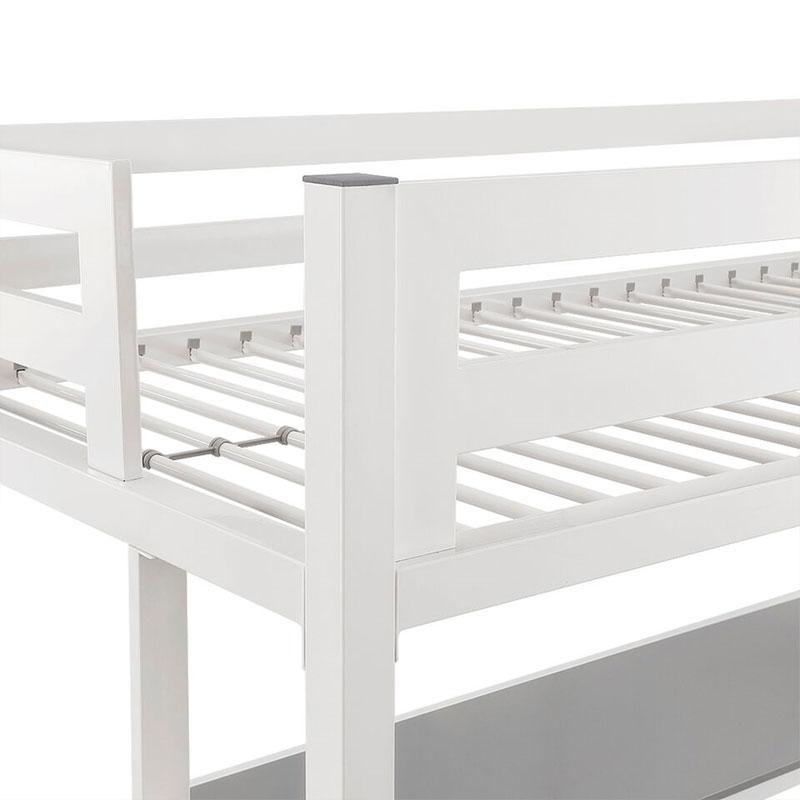 Walker Edison Btsqtozwh Bentley Twin Metal Loft Bed With