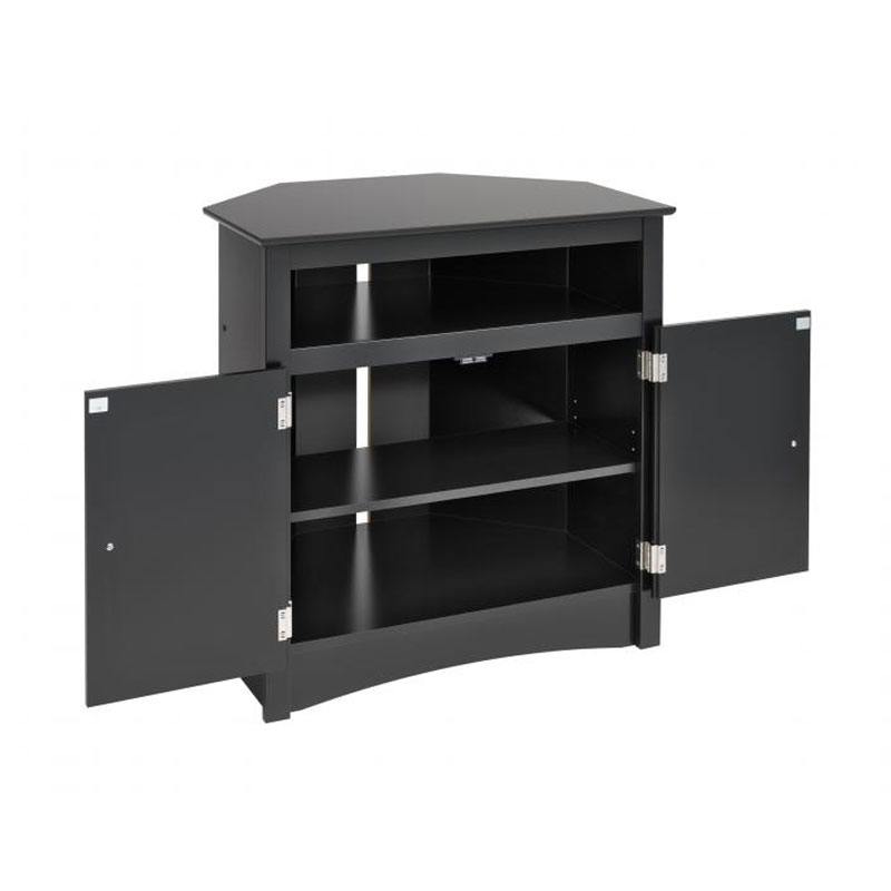 prepac sonoma collection tall corner tv cabinet for