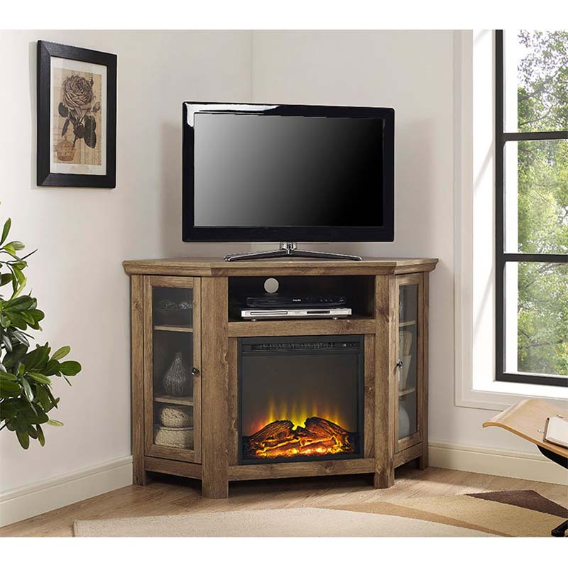 Walker Edison Corner Fireplace TV Stand for 50 inch Screens ...