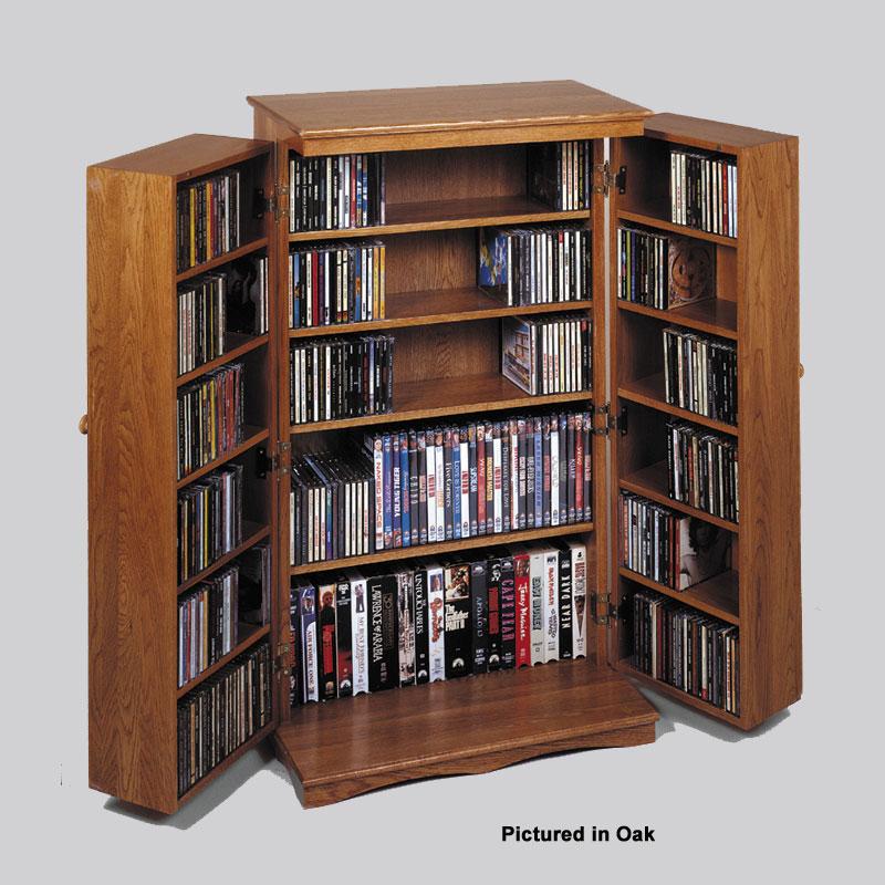 Leslie Dame Mission Style Multimedia Cabinet (Dark Oak) CD 612DKO