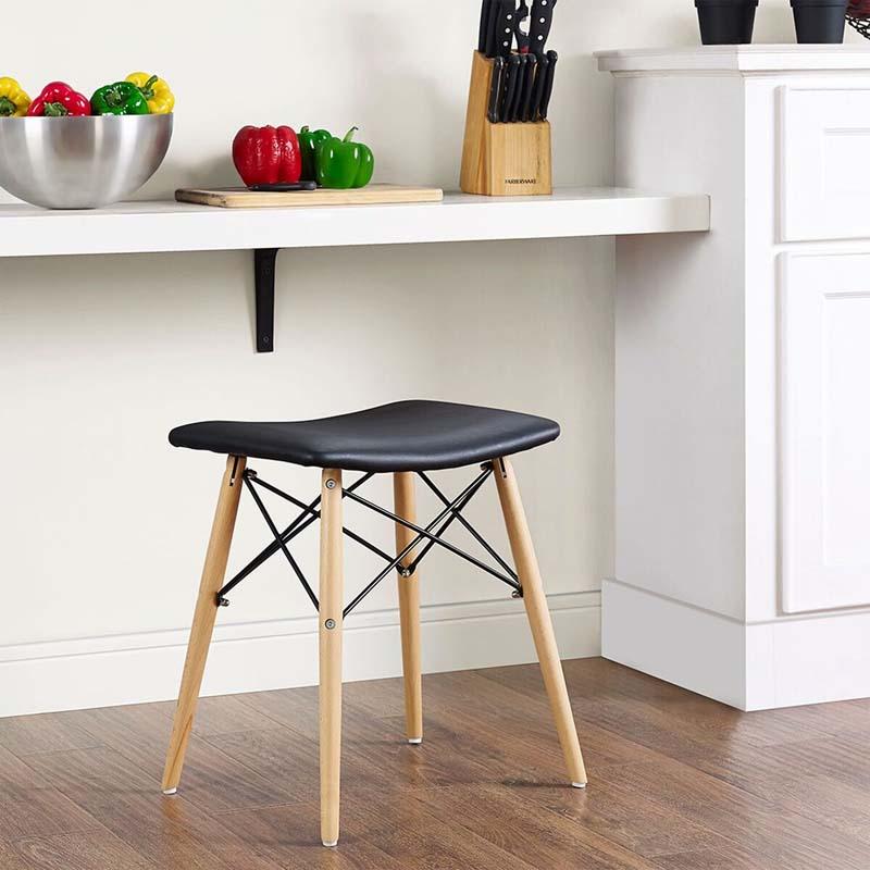 Walker edison retro modern faux leather inch stool