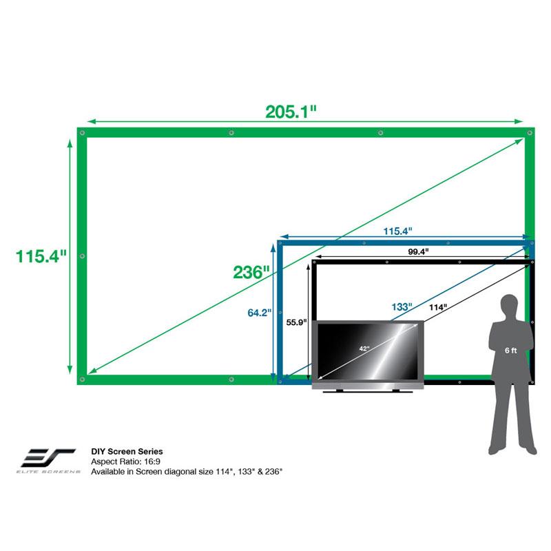 Elite Screens DIY PRO Outdoor Rear Projector Screens ...