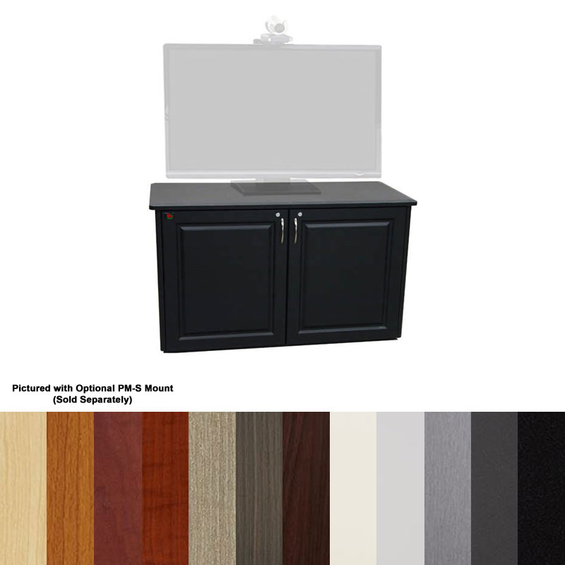 View A Larger Image Of The Audio Visual Furniture   VFI Video Conferencing  Credenza TV Stand