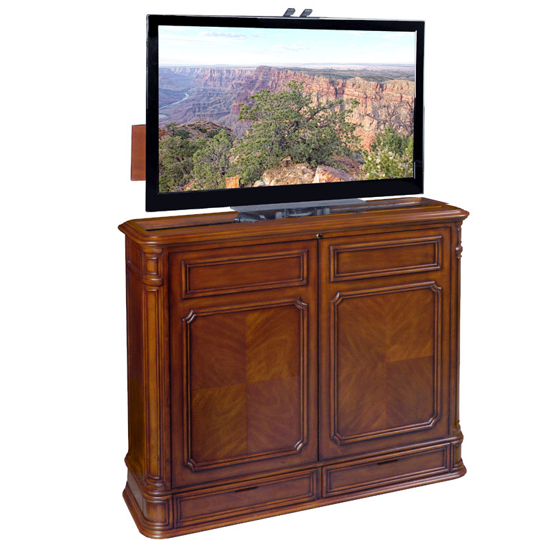 TV Lift Cabinet Crystal Pointe 360 Swivel Lift for 32-46 inch ...