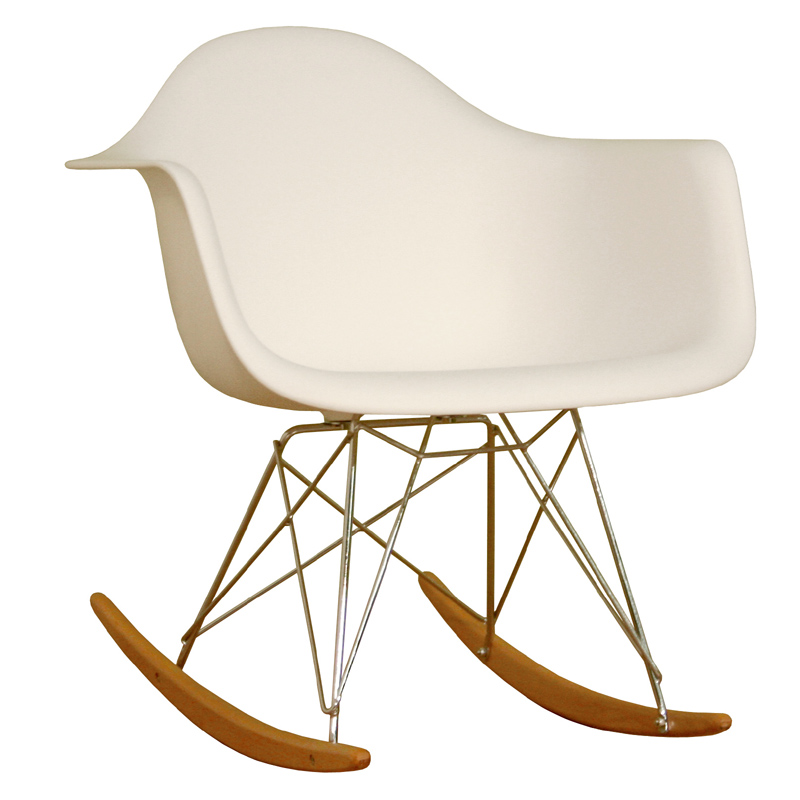 Interiors White And Ash Wood Rocking Chair White DC 311W WHITE