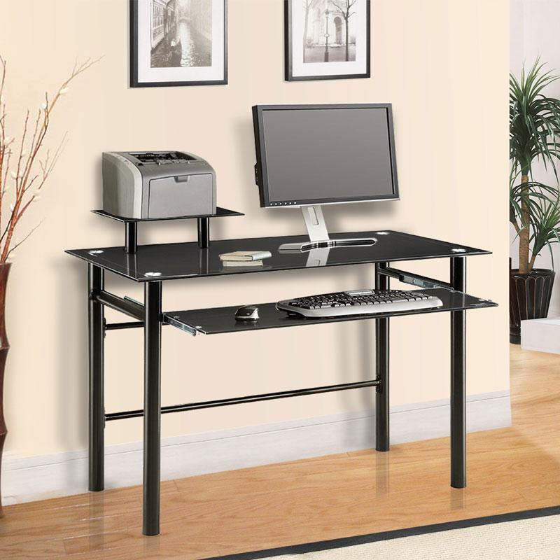 Innovex Black Glass puter Desk DP1042G29