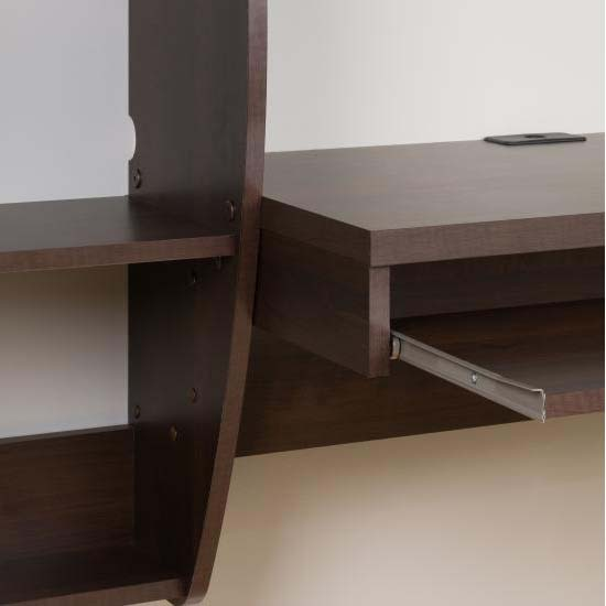 Prepac Floating Wall Mounted Desk With Storage And
