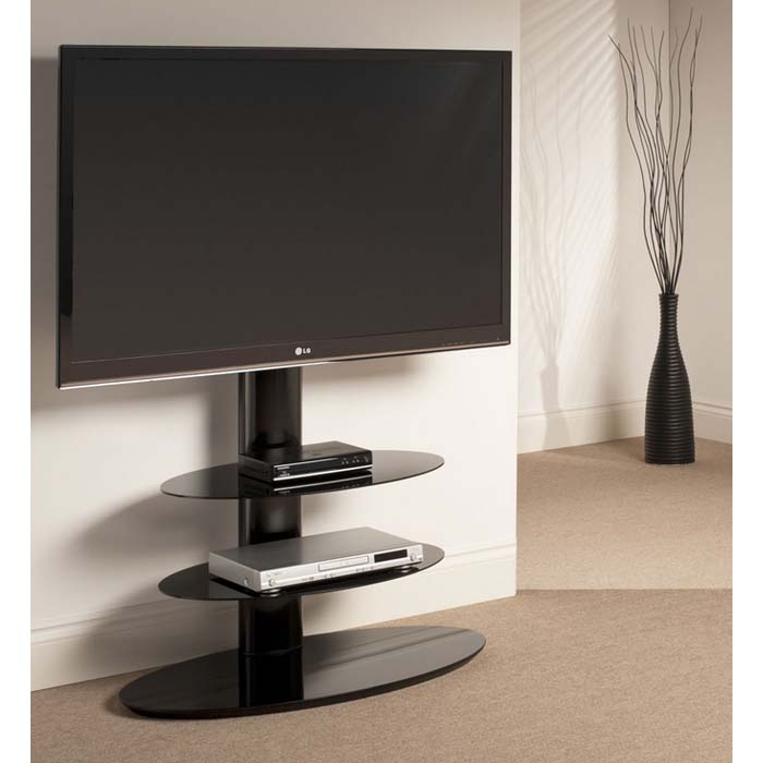 Techlink Strata 3 Shelf 50 Inch Corner Tv Stand With