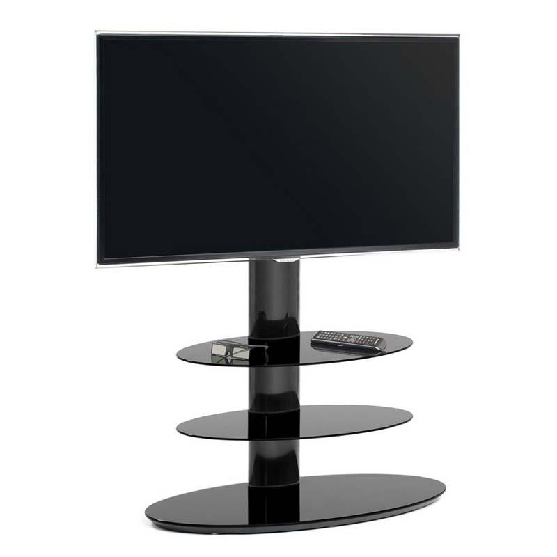 techlink strata 3 shelf 50 inch corner tv stand with integrated tv mount black glass st90e3. Black Bedroom Furniture Sets. Home Design Ideas
