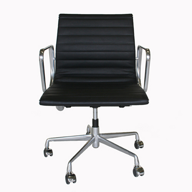 wholesale interiors black leather office chair black eoc 111 black