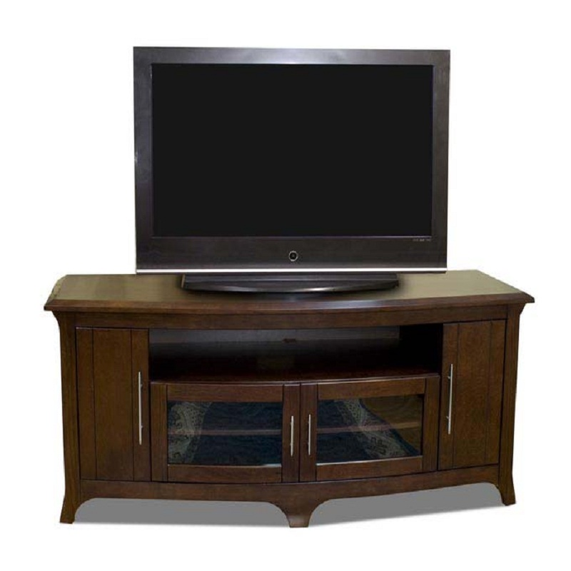 Tech craft veneto series walnut wood tv stand for 48 60 for Tech craft tv stands