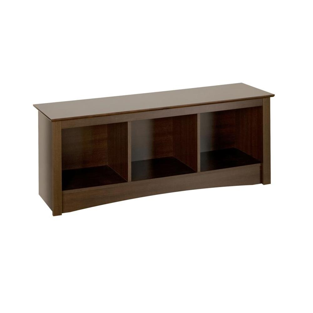 Prepac Sonoma 3 Cubbie Wood Bench Espresso Esc 4820
