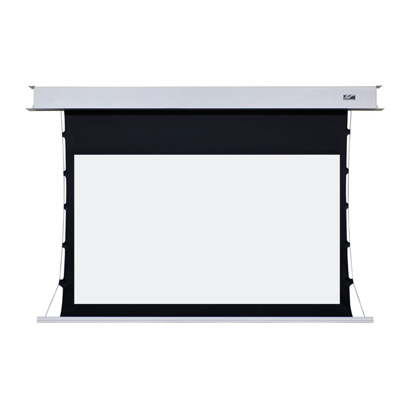 Elite screens evanesce tension b series recessed electric for Elite motorized projector screen