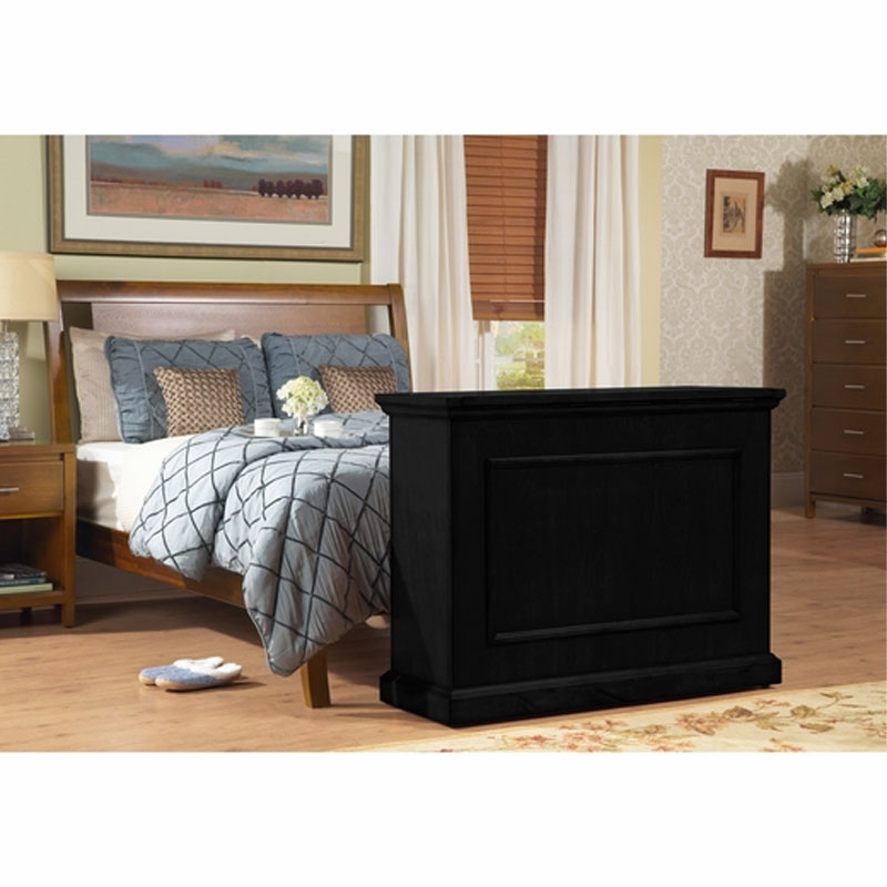 touchstone elevate end of bed or anyroom theater lift cabinet for inch screens black