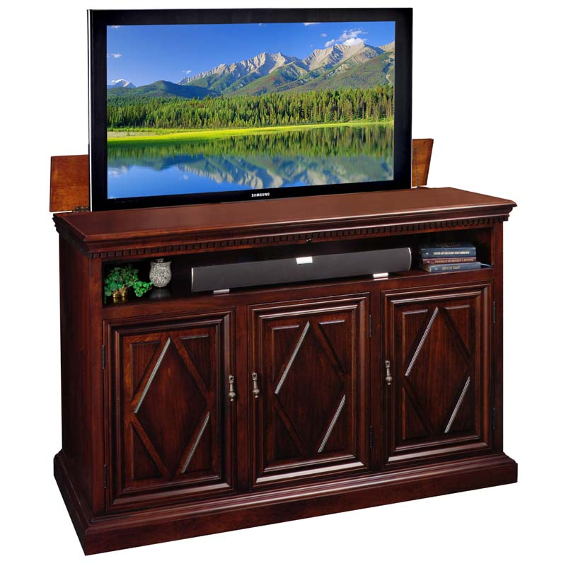 tv lift cabinet estancia lift for 56 inch wide screens. Black Bedroom Furniture Sets. Home Design Ideas