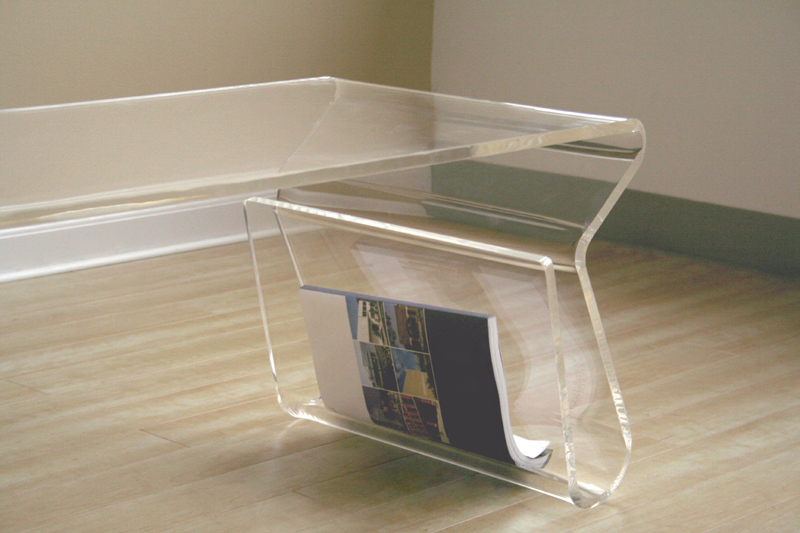 Wholesale Interiors Acrylic Clear Coffee Table With Magazine Rack Clear Fay 9948 Clear