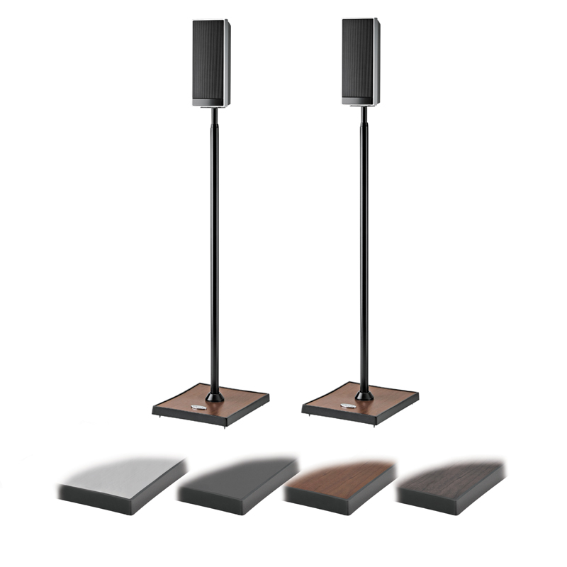 Omnimount Gemini 1 Adjustable Height Speaker Stands Black